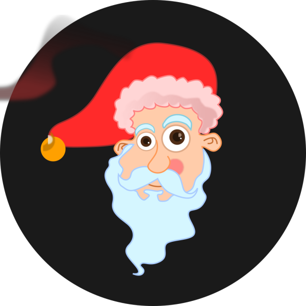 Cartoon Santa Head PNG Clip art