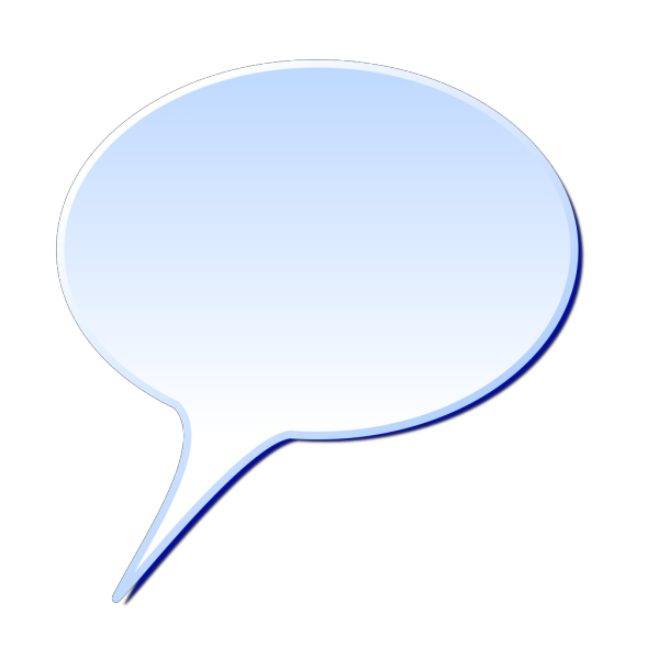 D Rounded Speech Bubble PNG Clip art