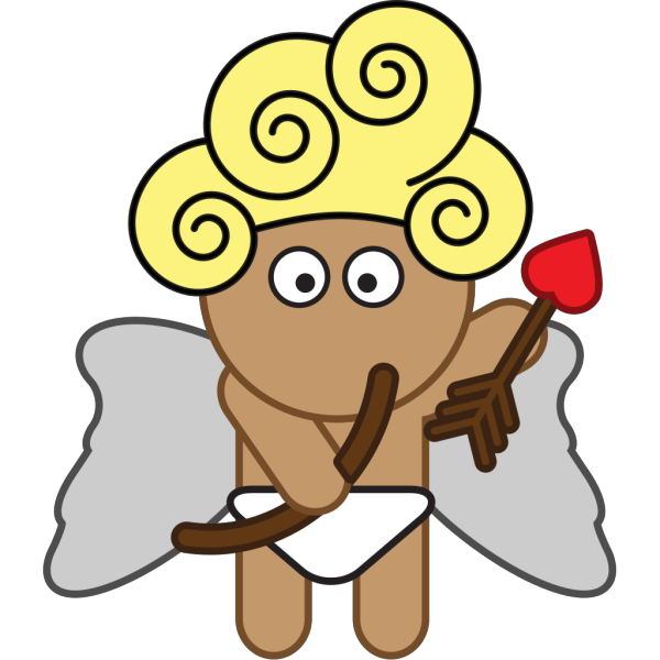 Cartoon Cupid With Bow And Arrow PNG Clip art