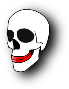 Skull With Lipstick PNG Clip art