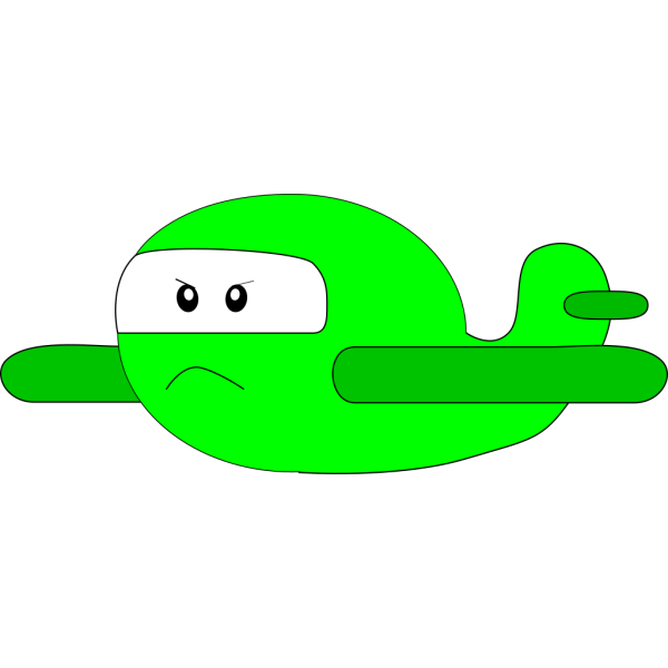 Angry Airplane PNG Clip art