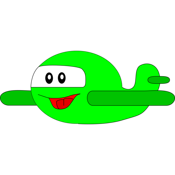 Happy Airplane PNG Clip art