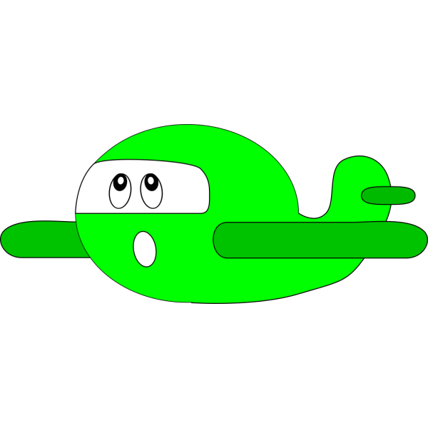 Surprised Airplane PNG Clip art