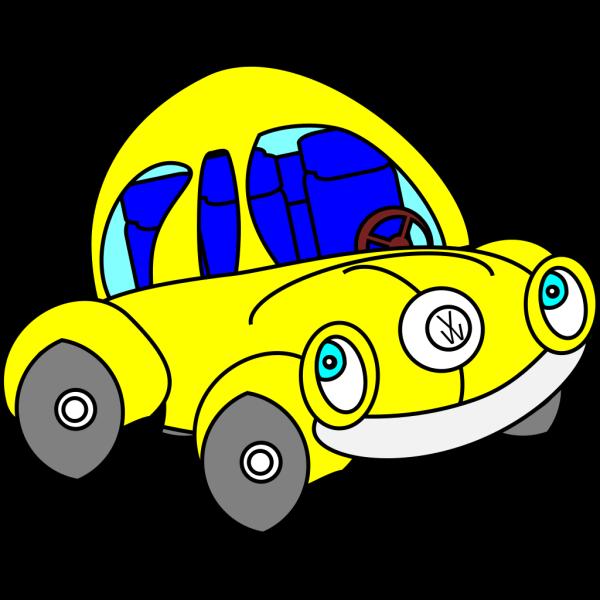 Happy Vw Beetle PNG Clip art