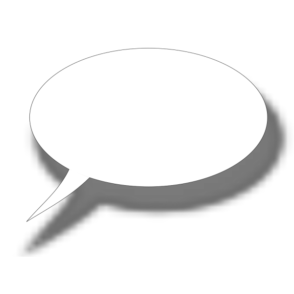 Cartoon Speech Bubble PNG Clip art
