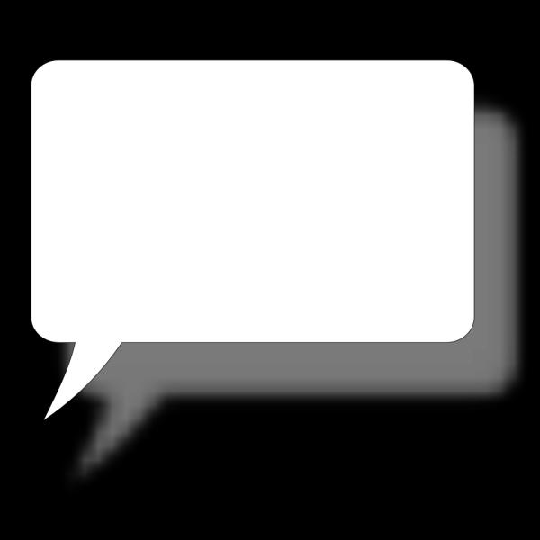 Square Speech Bubble PNG Clip art