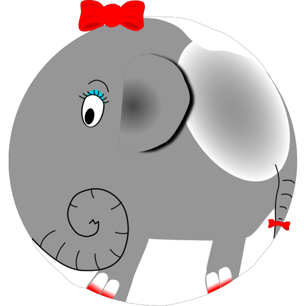 Jumping Female Elephant Cartoon PNG Clip art