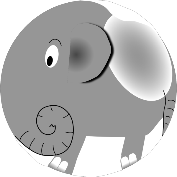 Jumping Male Elephant Cartoon PNG Clip art