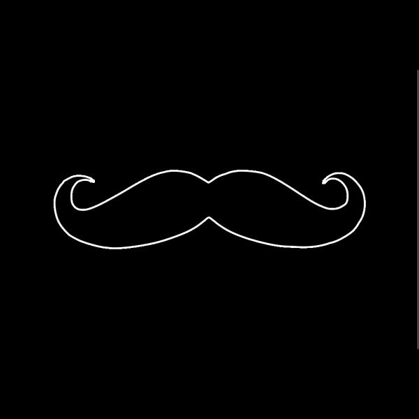 Black Mustache PNG Clip art