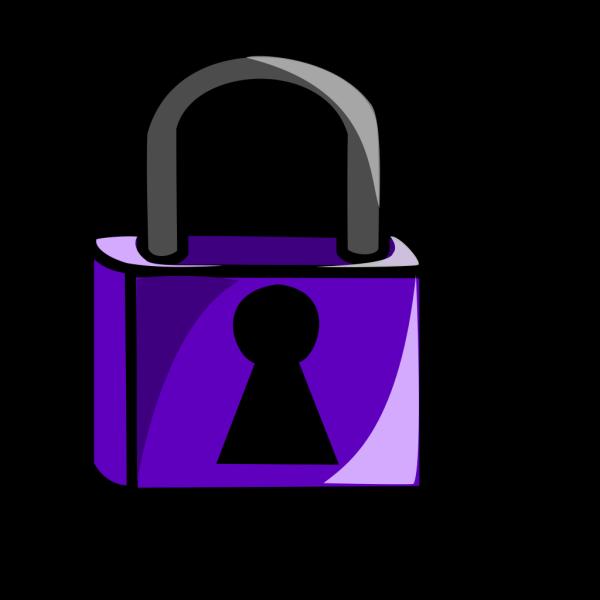 Purple Lock PNG Clip art