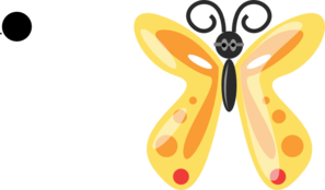 Butterfly With Glasses PNG Clip art