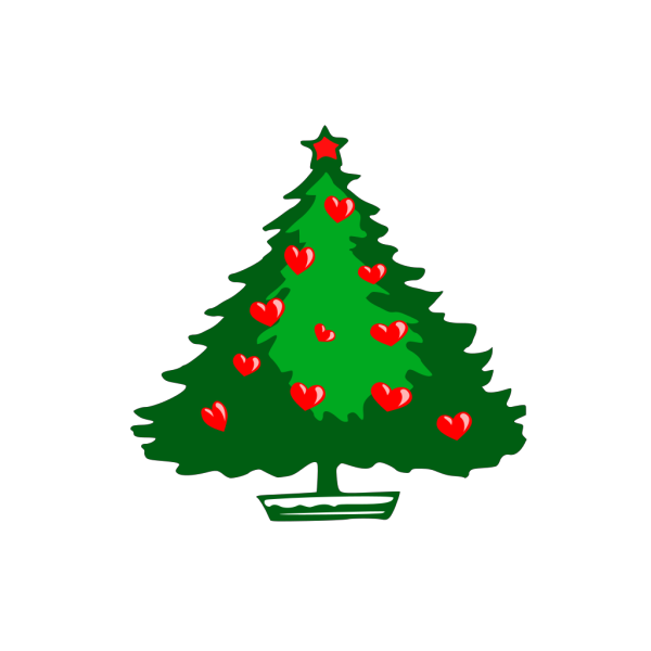 Christmas Hearts PNG Clip art