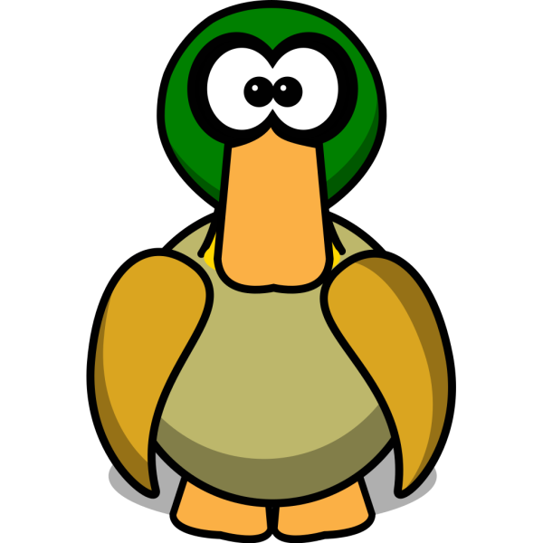 Duck Cartoon Large Pick PNG Clip art