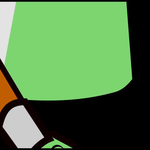 Cartoon Paintbrush Green PNG Clip art