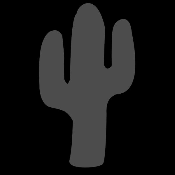 Gray Cactus3 PNG Clip art