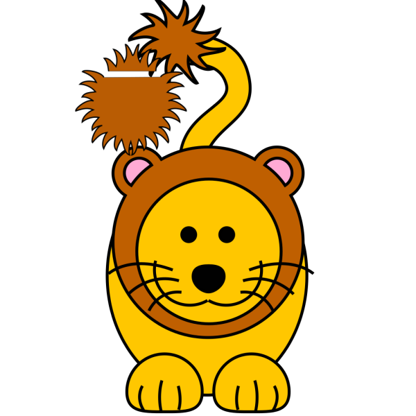 Cartoon Golden Lion PNG Clip art