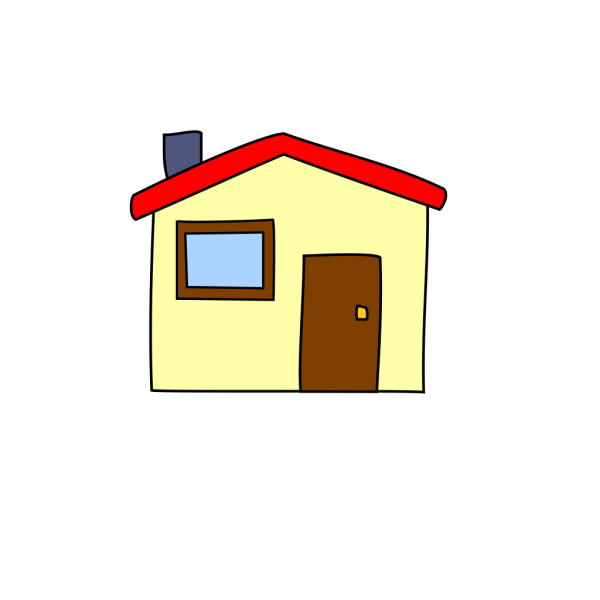 Simple Cartoon House PNG Clip art