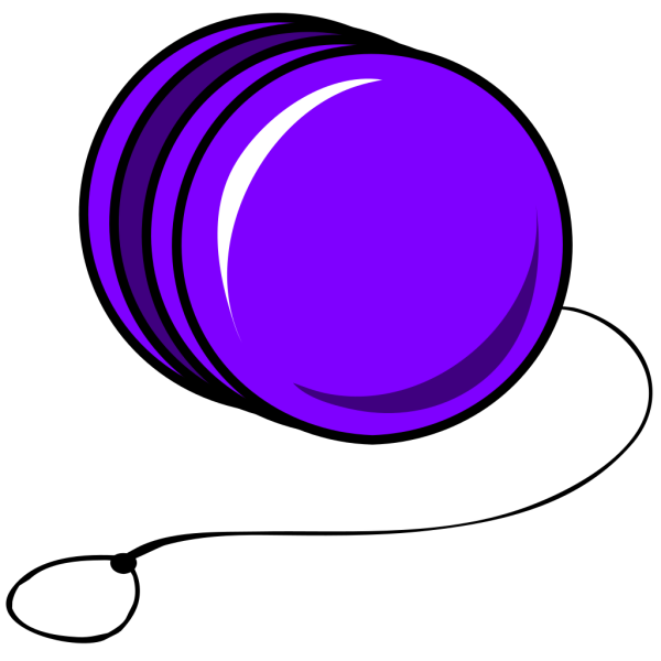 Purple Cartoon Yoyo PNG Clip art
