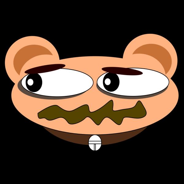Cartoon Animal With Collar PNG Clip art