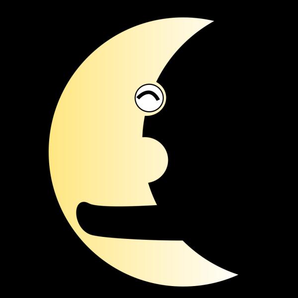 Smiling Moon PNG Clip art
