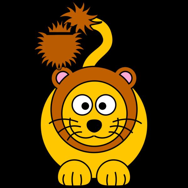 Cartoon Golden Lion PNG Clip art