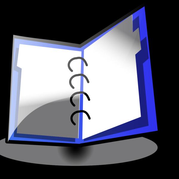 Open Binder Blue PNG Clip art