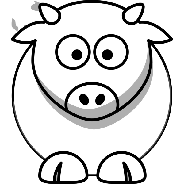 Cartoon Cow Outline PNG Clip art