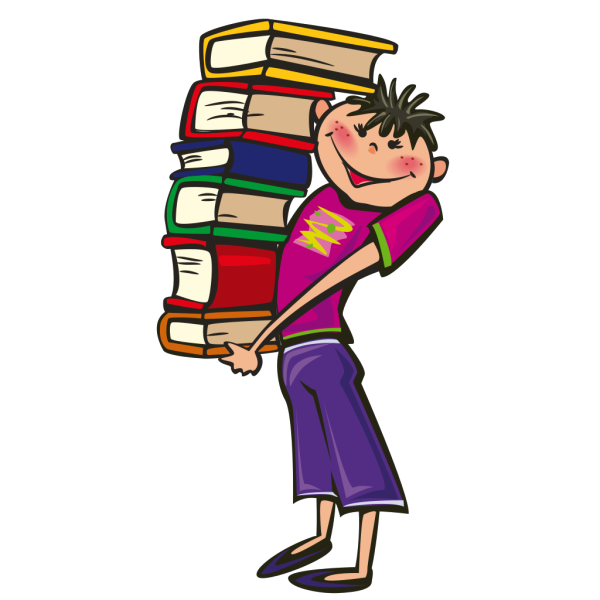 Student Carrying Books PNG Clip art