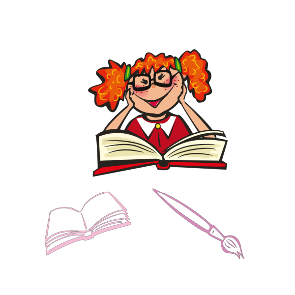Child Reading PNG Clip art
