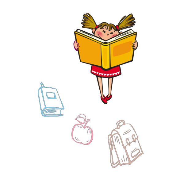 Girl Reading PNG Clip art