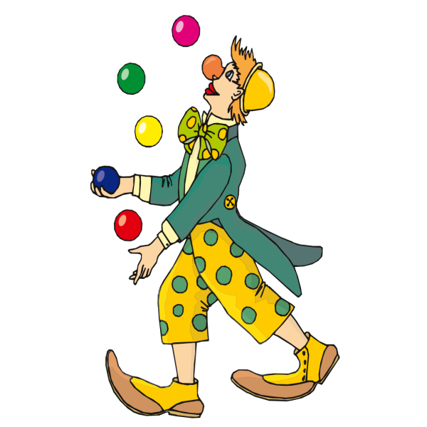 Juggling Clown PNG Clip art