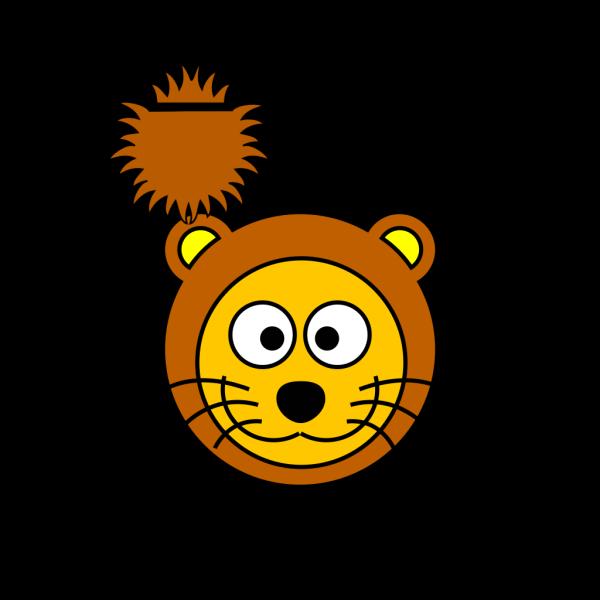 Cartoon Golden Lion 2 PNG Clip art