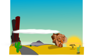 Cartoon Desert Landscape PNG Clip art