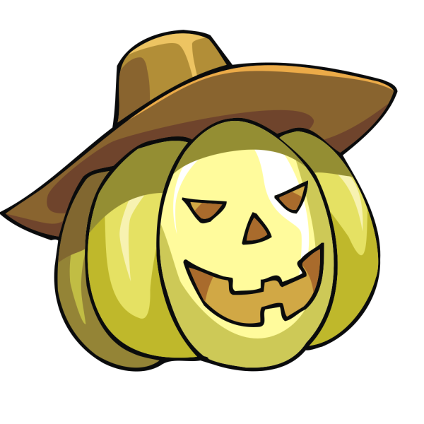 Pumpkin With Hat PNG icon