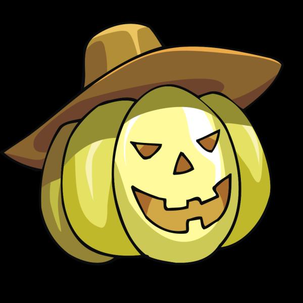 Pumpkin With Hat PNG Clip art