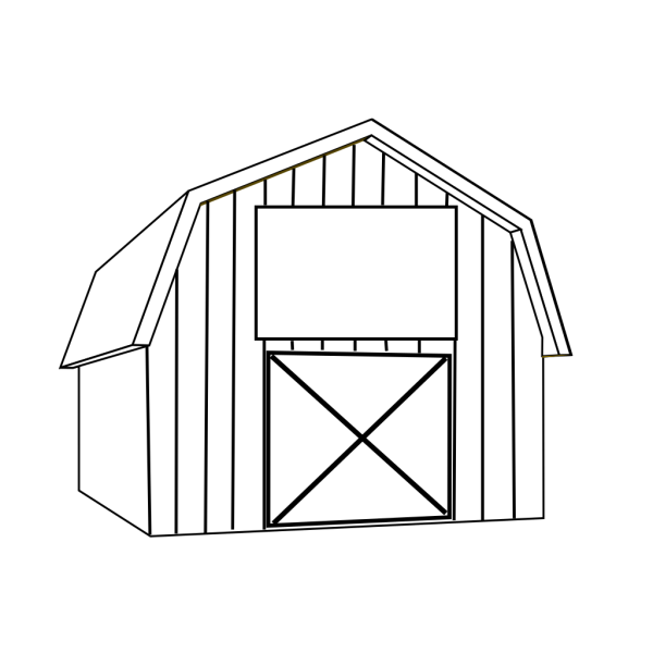 Black White Barn PNG Clip art