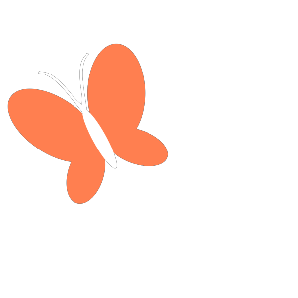 Coral Butterfly PNG Clip art
