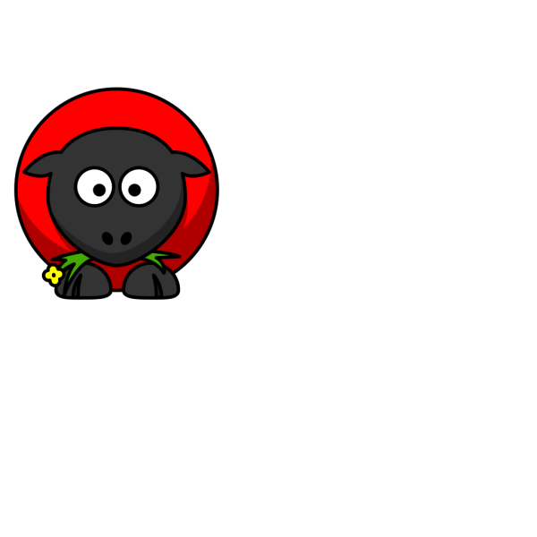 Red Sheep PNG Clip art