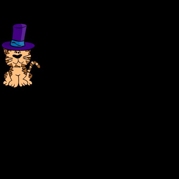 Cat In A Hat PNG Clip art