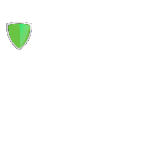Green Shield With Light Reflex2 PNG Clip art