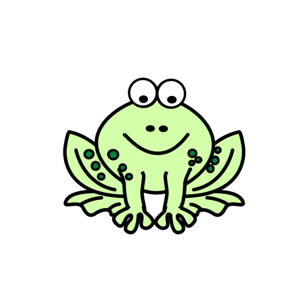 Two Tone Frog PNG Clip art