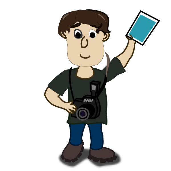 Man With Photo PNG Clip art