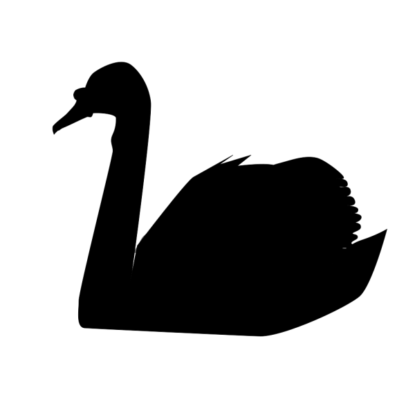 Swan Silhouette PNG Clip art