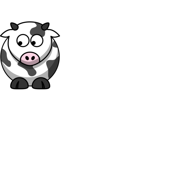 Cow Looking Down Right PNG Clip art