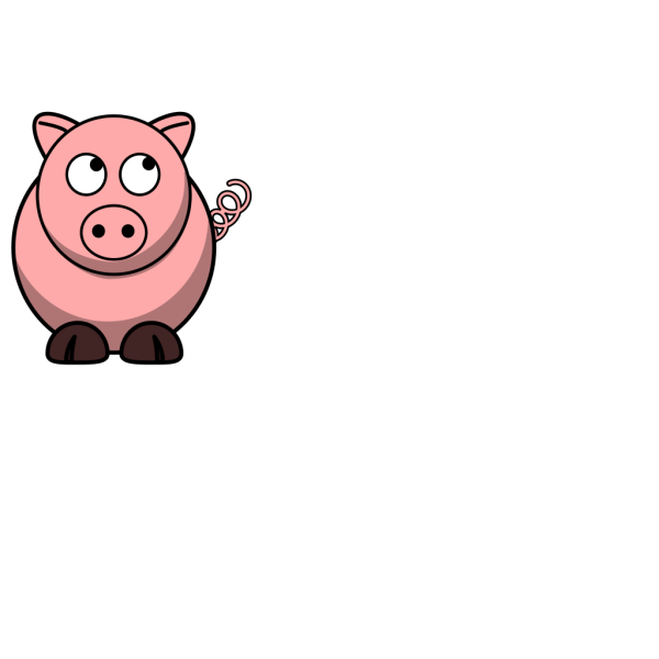 Pig Looking Up Left PNG Clip art
