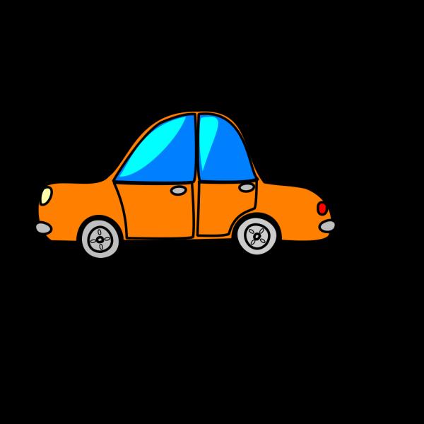 Car Orange Cartoon PNG Clip art