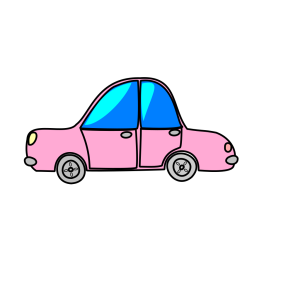 Car Pink Transport Cartoon PNG Clip art