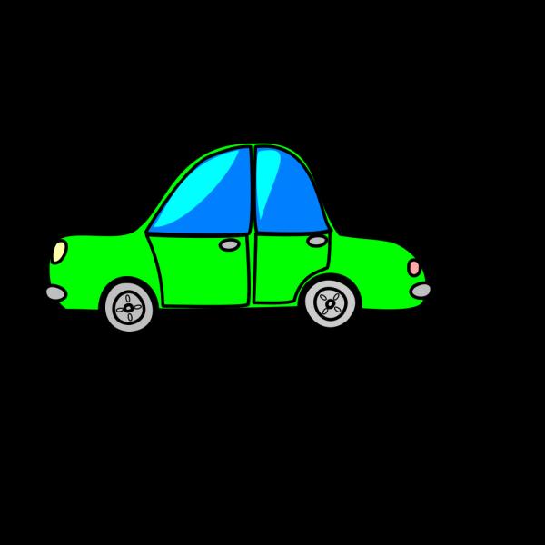 Car Green Cartoon Transport PNG Clip art