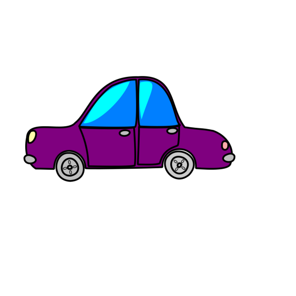 Car Purple Cartoon Transport PNG clipart