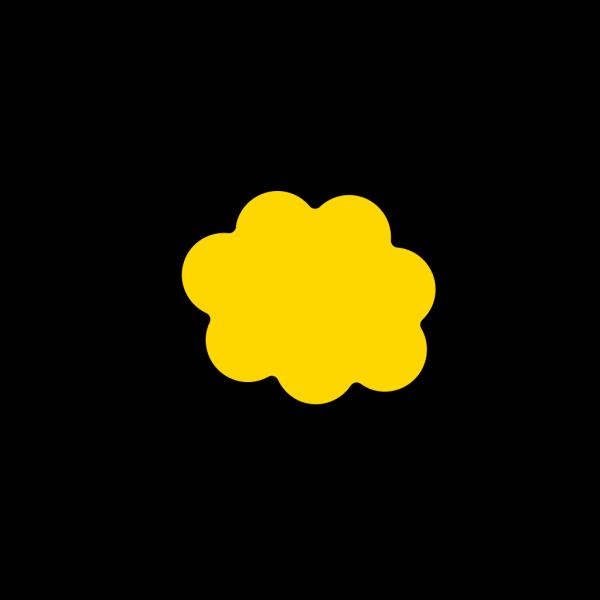 Orange-yellow Cloud PNG Clip art